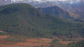 Morrocan Atlas Mountains. Slowly tilting up on Moroccan Atlas Mountains stock footage
