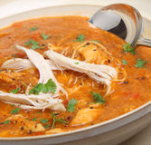 Morrocan Chicken Soup Stock Photo