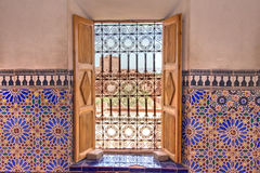 Morrocan decorated window Royalty Free Stock Photo