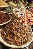 Morrocan herbs flowers spices - cassia barks Royalty Free Stock Image