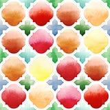 Morrocan naadloos patroon op witte achtergrond Royalty-vrije Stock Fotografie