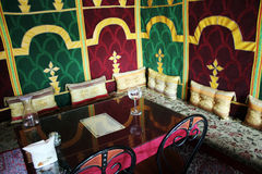 morrocan restaurang royaltyfri foto