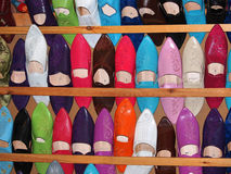 Morrocan slippers Stock Images