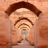 Morrocan stables in Meknes Royalty Free Stock Photos