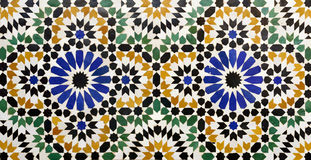 Morrocan traditional mosaic background Stock Image