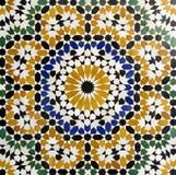 Morrocan traditionell mosaikbakgrund Royaltyfri Bild