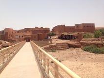 Morroco-Wüsten-Medina-Stadt Lizenzfreie Stockfotos
