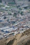 Morroen som är sol- i Chorrillos - Lima - Peru Arkivfoto