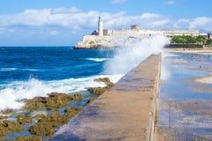 Morrokasteel van Gr in Havana stock fotografie
