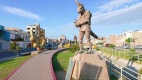 Morrop statue deity of the afterlife walk Yortuque Chiclayo Peru
