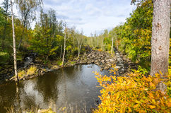 Morrum river Kings cascades in autumn color Stock Image