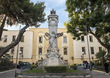 Mors Immortalis monument, Piazza della Vittoria, Sorrento. Pictured is the Mors Immortalis monument in the Piazza della Vittoria overlooking the Gulf of Naples Royalty Free Stock Images