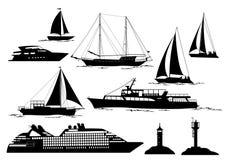 Morscy pojazdy i przedmioty Zdjęcie Stock