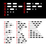 Morse Code alphabet and numbers Stock Photography