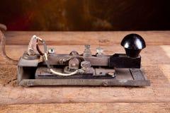 Morse code on telegraph stock photos