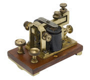 Morse-Empfänger Stockbild