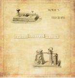 Morse Fernschreiber Stockfotos