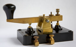 Morse Key. Manufactured by Clipsal of Australia in the early 1900s royalty free stock photography