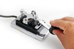 Morse key stock photography