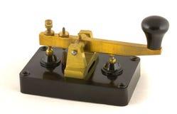 Morse kluczowe rocznik Fotografia Royalty Free