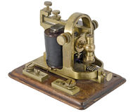 Morse Receiver. Old telegraph receiver isolated on white Stock Photography