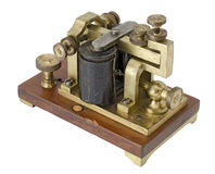 Morse Receiver. Old telegraph receiver isolated on white Stock Images