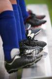 Morsetti di calcio Fotografia Stock