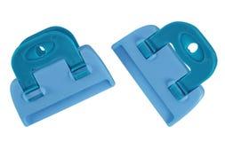 Morsetti isolati - blu-chiaro Fotografia Stock