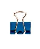 Morsetto blu dell'ufficio Fotografie Stock