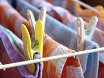 Morsetto e lavanderia fotografia stock libera da diritti