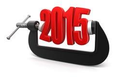 2015 in morsetto (percorso di ritaglio incluso) Immagini Stock