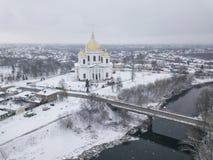Morshansk city. Trinity Cathedral. River tsna. The city of Morshansk. Russia. Trinity Cathedral. River tsna royalty free stock photography