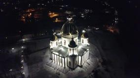 Morshansk Het Ipatiev-Klooster is een mannelijk klooster, gelegen aan de bank van de Kostroma-Rivier enkel tegenover de stad van  stock videobeelden