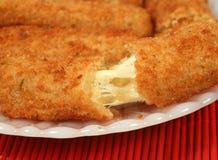 Morsi del formaggio Immagini Stock Libere da Diritti
