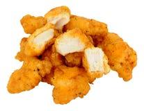 Morsi della pepita di pollo Fotografia Stock