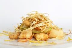 Morsi fritti del pollo del limone Immagine Stock