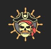 Morska emblemat czaszka Zdjęcia Royalty Free