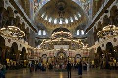 Morska katedra w Kronshtadt, Petersburg, Rosja zdjęcie royalty free