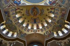 Morska katedra w Kronshtadt, Petersburg, Rosja Obraz Royalty Free