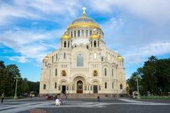 Morska katedra w Kronshtadt, Petersburg, Rosja fotografia royalty free