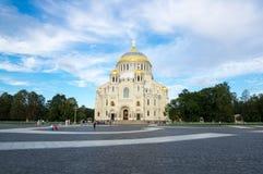 Morska katedra w Kronshtadt, Petersburg, Rosja Obraz Stock