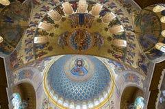 Morska katedra w Kronshtadt, Petersburg, Rosja zdjęcia stock
