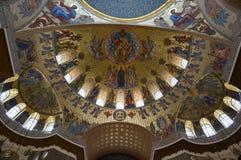 Morska katedra w Kronshtadt, Petersburg, Rosja zdjęcia royalty free