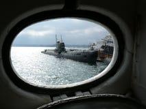 morska muzealna rosyjskiej łodzi podwodnej Zdjęcie Royalty Free