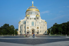 Morska St Nicholas katedra w Kronstadt Zdjęcie Royalty Free