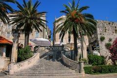 Morska Vrata Denna brama w Korcula starym miasteczku, Chorwacja Zdjęcia Stock