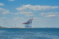 Morski ładunku port w Odessa Obraz Royalty Free