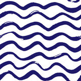 Morski falowy wzór Fotografia Royalty Free