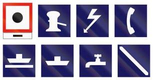 Morski farwateru znak Finlandia - Dawać precyzował akustycznego sygnał Zdjęcie Royalty Free