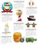 Morski infographics Obraz Stock